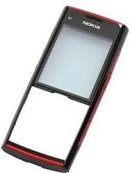 Přední kryt Nokia X2-00 Red / červený, Originál
