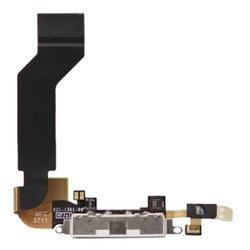Systémový konektor + flex kabel Apple iPhone 4S bílý + mikrofon