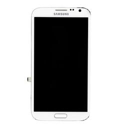 Přední kryt Samsung N7100 Galaxy Note II White / bílý + LCD + do