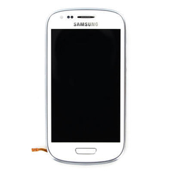 Přední kryt Samsung i8190, 8200 Galaxy S III mini bílý + LCD + d