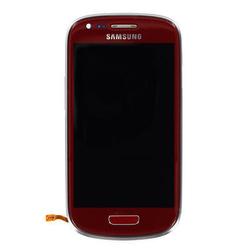 Přední kryt Samsung i8190 Galaxy S3 mini Red / červený + LCD + d