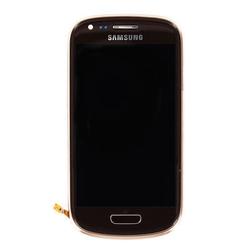 Přední kryt Samsung i8190 Galaxy S3 mini Brown / hnědý + LCD + d