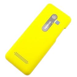 Zadní kryt Nokia 206 Yellow / žlutý - Dual SIM, Originál
