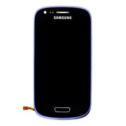 Přední kryt Samsung i8200 Galaxy S3 mini VE Blue / modrý + LCD +