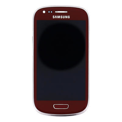 Přední kryt Samsung i8190, i8200 Galaxy S3 mini VE Red + LCD + d