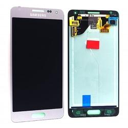 LCD Samsung G850 Galaxy Alpha + dotyková deska Silver / stříbrná