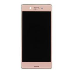 Přední kryt Sony Xperia X, F5121 Rose / růžový + LCD + dotyková