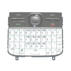 Klávesnice Nokia E5-00 White / bílá - anglická, Originál