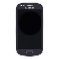 Přední kryt Samsung i8190, i8200 Galaxy S3 mini VE šedý + LCD +