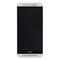 Přední kryt HTC One M9 Silver / stříbrný + LCD + dotyková deska,